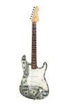 Ηλεκτρική κιθάρα, σχέδιο 100 δολαρίων Στοκ Εικόνες