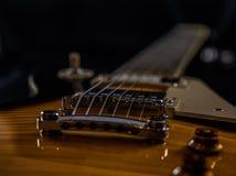 Ηλεκτρική κιθάρα ύφους Les Paul Beautifil Στοκ εικόνα με δικαίωμα ελεύθερης χρήσης