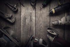 Ηλεκτρική κορυφή β εργαλείων χεριών (τορνευτικό πριόνι πριονιών τρυπανιών κατσαβιδιών jointer) Στοκ Εικόνα