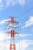 ηλεκτρική μετάδοση γραμμών Στοκ Εικόνα