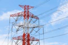 ηλεκτρική μετάδοση γραμμών Στοκ εικόνες με δικαίωμα ελεύθερης χρήσης