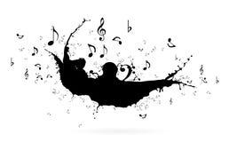 ηλεκτρική μουσική απεικόνισης κιθάρων έννοιας Στοκ Φωτογραφίες