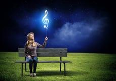 ηλεκτρική μουσική απεικόνισης κιθάρων έννοιας Στοκ εικόνες με δικαίωμα ελεύθερης χρήσης