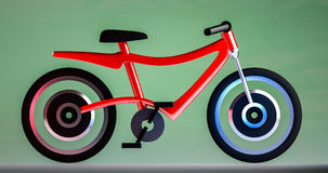 Ηλεκτρική τρισδιάστατη απεικόνιση ποδηλάτων Στοκ φωτογραφίες με δικαίωμα ελεύθερης χρήσης