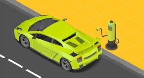 Ηλεκτρική χρέωση αθλητικών coupe αυτοκινήτων Στοκ φωτογραφία με δικαίωμα ελεύθερης χρήσης