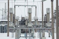 Ηλεκτρική δύναμη υψηλής τάσης Στοκ Εικόνες