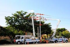 Ηλεκτρική linemen μόνωση γερανών Στοκ εικόνες με δικαίωμα ελεύθερης χρήσης