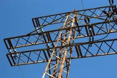 ηλεκτρικοί πυλώνες ισχύ&omi Στοκ φωτογραφίες με δικαίωμα ελεύθερης χρήσης