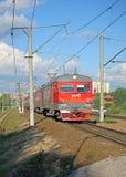 Ηλεκτρικοί ρωσικοί σιδηρόδρομοι τραίνων στη Μόσχα Στοκ Φωτογραφίες