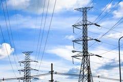 Ηλεκτρικός μετα σταθμός μετασχηματιστών σταθμών ηλεκτροπαραγωγής Στοκ Φωτογραφίες