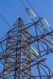 Ηλεκτρικός μονωτής στα καλώδια Στοκ Εικόνα
