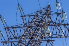 Ηλεκτρικός μονωτής στα καλώδια Στοκ Εικόνες
