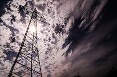 Ηλεκτρικός πύργος μετάδοσης υψηλής τάσης Στοκ φωτογραφίες με δικαίωμα ελεύθερης χρήσης