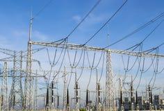 Ηλεκτρικός σταθμός μετασχηματισμού Στοκ εικόνες με δικαίωμα ελεύθερης χρήσης