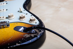 ηλεκτρικός τρύγος κιθάρ&omega Στοκ Φωτογραφίες