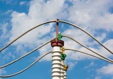 Ηλεκτρικός υποσταθμός υψηλής τάσης στοκ φωτογραφίες με δικαίωμα ελεύθερης χρήσης