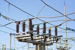 Ηλεκτρικός υποσταθμός υψηλής τάσης στοκ φωτογραφία