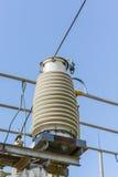 Ηλεκτρικός υποσταθμός υψηλής τάσης στοκ εικόνα με δικαίωμα ελεύθερης χρήσης