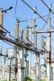 Ηλεκτρικός υποσταθμός υψηλής τάσης στοκ εικόνες με δικαίωμα ελεύθερης χρήσης