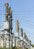 Ηλεκτρικός υποσταθμός υψηλής τάσης στοκ φωτογραφία με δικαίωμα ελεύθερης χρήσης