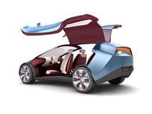 Ηλεκτρικό αυτοκίνητο έννοιας τρισδιάστατη απόδοση Στοκ εικόνα με δικαίωμα ελεύθερης χρήσης