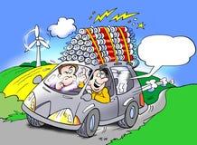 Ηλεκτρικό αυτοκίνητο που τρέχει στις μπαταρίες Στοκ φωτογραφίες με δικαίωμα ελεύθερης χρήσης