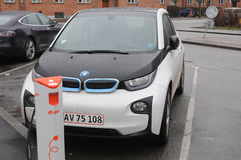 Ηλεκτρικό αυτοκίνητο της Bmw Στοκ Φωτογραφία
