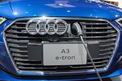 Ηλεκτρικό αυτοκίνητο Audi A3 ε -ε-tron στοκ εικόνες με δικαίωμα ελεύθερης χρήσης
