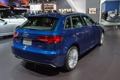 Ηλεκτρικό αυτοκίνητο Audi A3 ε -ε-tron στοκ εικόνες