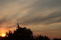 ηλεκτρικό ηλιοβασίλεμ&alpha Στοκ φωτογραφία με δικαίωμα ελεύθερης χρήσης