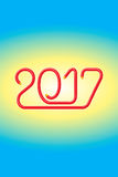 Ηλεκτρικό καλώδιο ευτυχή το 2017 - jak-2 Στοκ Φωτογραφίες