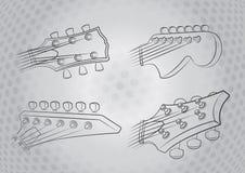 ηλεκτρικό κεφάλι κιθάρων Στοκ Εικόνα
