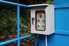 Ηλεκτρικό κιβώτιο ελέγχου έξω από το κτήριο Στοκ Εικόνες