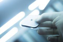 Ηλεκτρικό μπάλωμα επεξεργασίας φυσιοθεραπείας Στοκ εικόνες με δικαίωμα ελεύθερης χρήσης