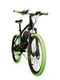 Ηλεκτρικό ποδήλατο στο λευκό με το ψαλίδισμα της πορείας στοκ εικόνες