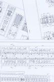 Ηλεκτρικό σχέδιο και αρχιτεκτονικό σχέδιο Στοκ φωτογραφία με δικαίωμα ελεύθερης χρήσης