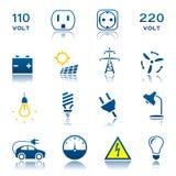 Ηλεκτρικό σύνολο εικονιδίων διανυσματική απεικόνιση