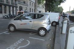 Ηλεκτρικό όχημα Παρίσι Στοκ Εικόνα