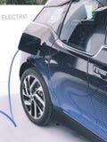 Ηλεκτρικό όχημα που συνδέεται Στοκ Εικόνα