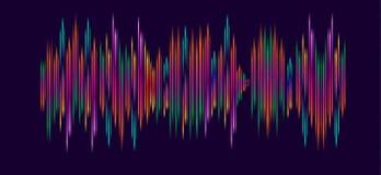 Ηλεκτρονικά κύματα μουσικής ελεύθερη απεικόνιση δικαιώματος