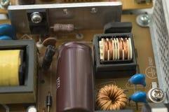 Ηλεκτρονικά συστατικά του τσιπ μικροϋπολογιστών PC Στοκ εικόνα με δικαίωμα ελεύθερης χρήσης
