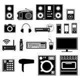 Ηλεκτρονικές και ηλεκτρικές συσκευές και συσκευές διανυσματική απεικόνιση