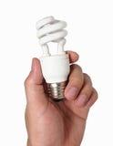 Ηλεκτρονική λάμπα φωτός αρπαγών χεριών Στοκ φωτογραφίες με δικαίωμα ελεύθερης χρήσης