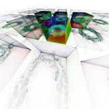 Ηλεκτρονική γραφιστική: Μαγικοί κύβοι Στοκ εικόνα με δικαίωμα ελεύθερης χρήσης