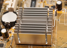 Ηλεκτρονική συλλογή - ψηφιακά συστατικά στον υπολογιστή mainboard Στοκ Φωτογραφίες
