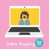 Ηλεκτρονικό εμπόριο που ψωνίζει on-line Στοκ φωτογραφία με δικαίωμα ελεύθερης χρήσης