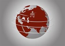 Ηλεκτρονικό εμπόριο στον κόσμο Στοκ Εικόνα