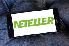 Ηλεκτρονικό λογότυπο τραπεζών Neteller Στοκ Εικόνα