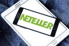 Ηλεκτρονικό λογότυπο τραπεζών Neteller Στοκ φωτογραφία με δικαίωμα ελεύθερης χρήσης