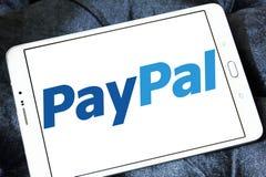 Ηλεκτρονικό λογότυπο τραπεζών Paypal Στοκ Εικόνες